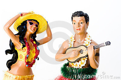 Hula Man and Woman