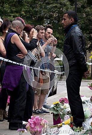 Hulde aan Amy Winehouse Redactionele Fotografie