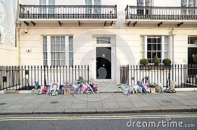Hulde aan Ex Britse Eerste Munster Margret Thatcher Who Died L Redactionele Foto