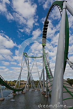 Hulk Roller Coaster Islands of Adventure Orlando Editorial Stock Image