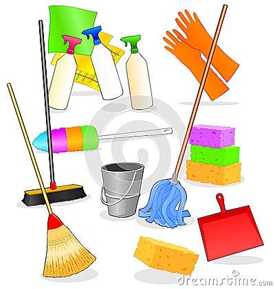 Hulpmiddelen en toebehoren voor het schoonmaken royalty - Hacer limpieza en casa ...