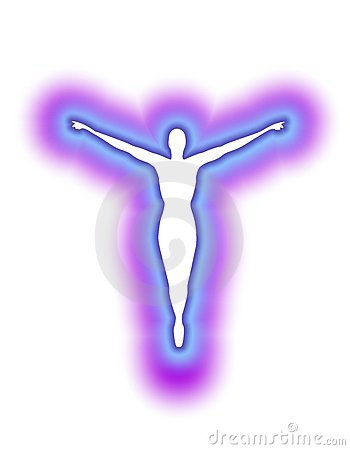 The Human Aura In Blue Purple Glow Royalty Free Stock Image - Image: 4165256
