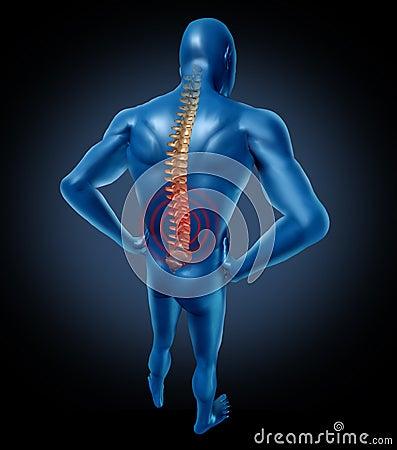 Human back pain spine posture