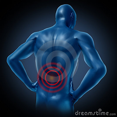 Human back pain spine posture