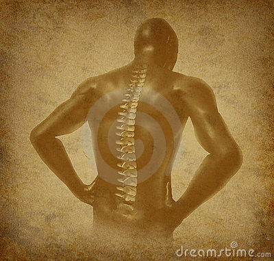 Human back spine spinal pain ancient grunge