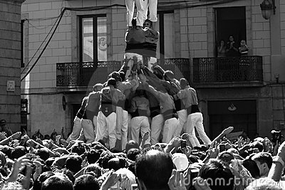 Human Base. Castel - human towers. Editorial Image