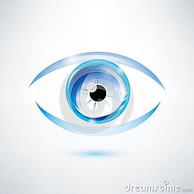 Human blue eye