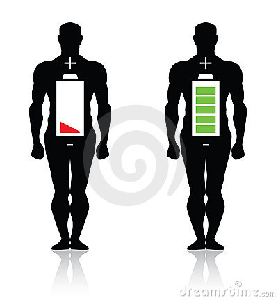 Free Human Body High Low Battery Isolated Royalty Free Stock Photo - 20326155