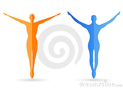Human body silhouettes