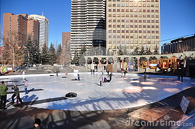 Human Bonspiel, Calgary Editorial Photography
