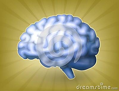 Human brain blue