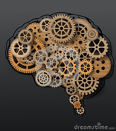 Free Human Brain Build Out Of Cogs And Gears Royalty Free Stock Photography - 45647077