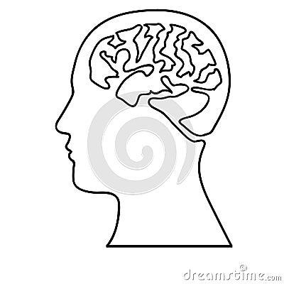 Human brain icon image Vector Illustration