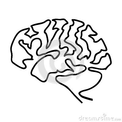 Human brain icon image Vector Illustration