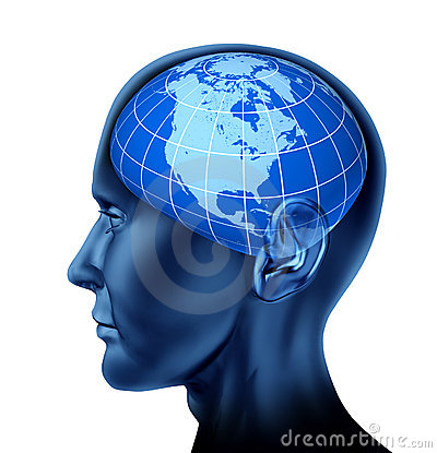Human brain north America U.S.A. Canada Mexico