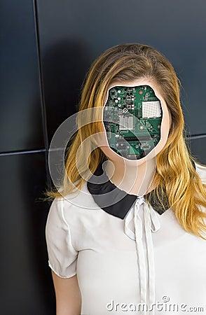 Free Human Cyborg Robot Royalty Free Stock Photo - 73922615