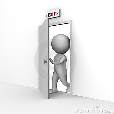 Human Entering Through The Door - A 3d Image Royalty Free Stock Image ...