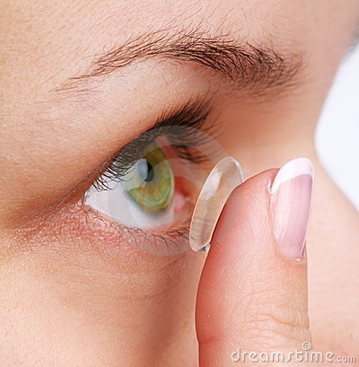 Human eye with corrective lens
