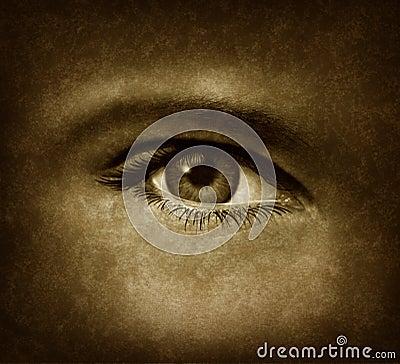 Human Eye With Grunge Texture