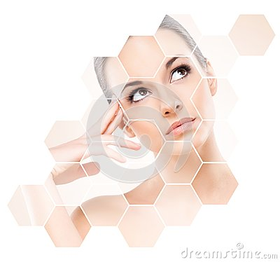 Free Human Face In Honeycomb. Royalty Free Stock Images - 103669999