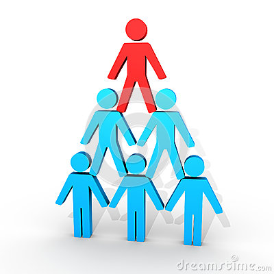 Human figures form a pyramid