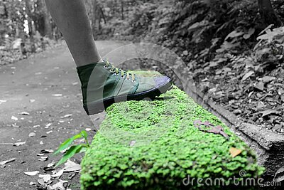 Human Foot And Grass Field Selective Color Footage Free Public Domain Cc0 Image