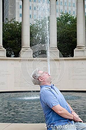 Human fountain Editorial Image