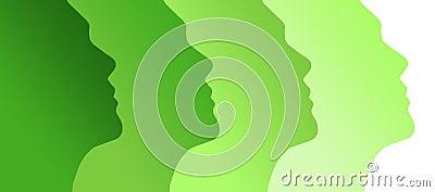 Human green profiles