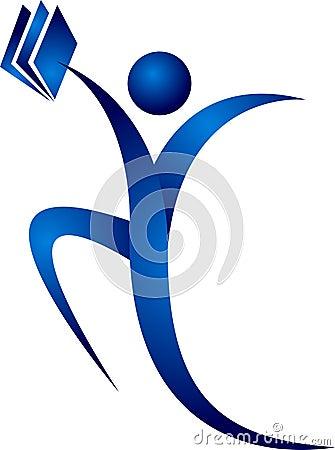 Human hand book logo