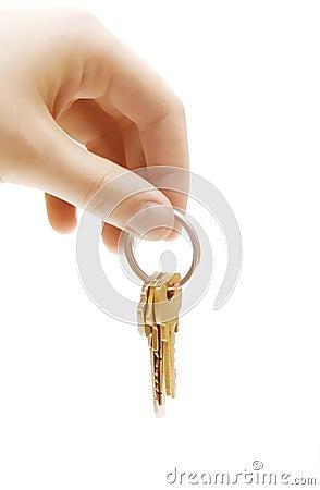 Human hand with keys