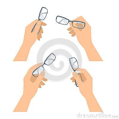 Free Human Hand With Glasses Set. Business And Office Concept Illustr Royalty Free Stock Images - 89646509
