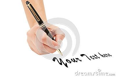 Human hand writing