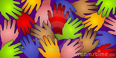 Human Hands Colors Pattern 2