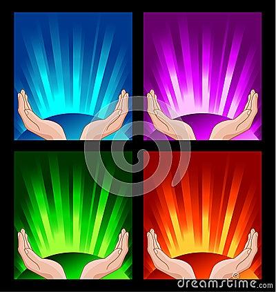Human hands praying