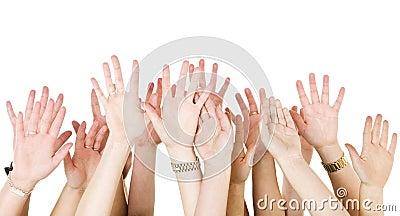 Human Hands Raised