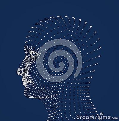 Human head dots model