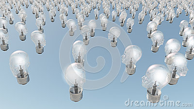 Human head lightbulbs