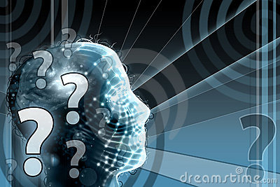 Human Head with Question