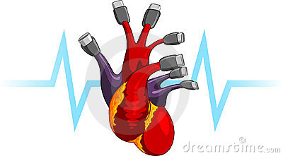 Human Heart Usb Plug Symbolic Illustration