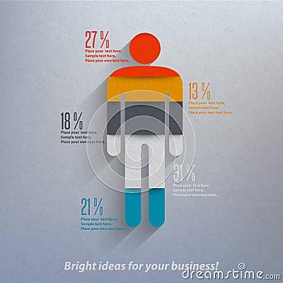 Human infographics.