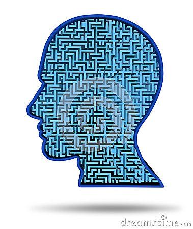 Human intelligence research symbol
