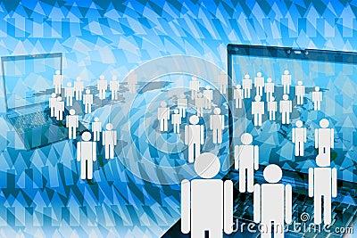 Human marketing network.