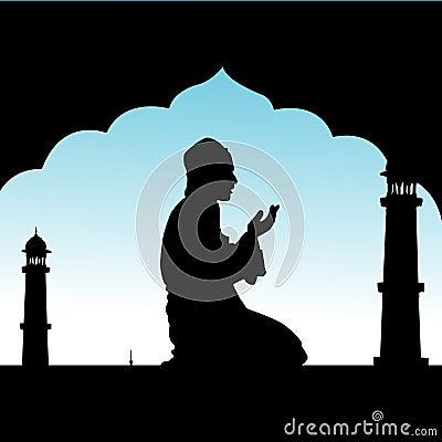 Human offering prayers