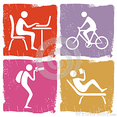 Human Pastime Icon Set Stock Photography Image 33800832
