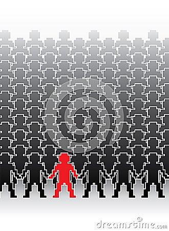 Human pixel figures