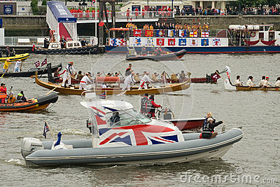 The human power boats at the Royal Pageant Editorial Photo