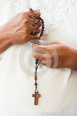 Human pray to god