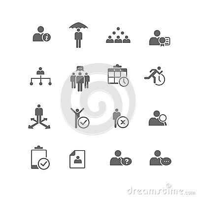 Free Human Resources Business Management Icon Set Stock Photography - 28019962