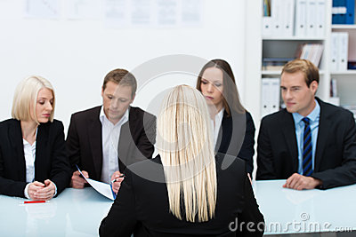 Human resources team conducting an interview