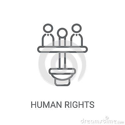 Human rights icon. Trendy Human rights logo concept on white bac Vector Illustration